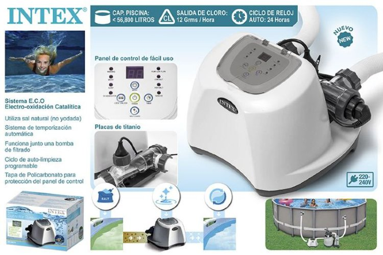 Хлоргенератор Salwater System Intex 26670(28670) для бассейнов объемом до 56800л